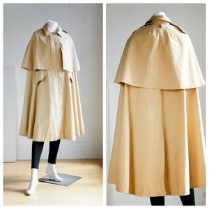 Vintage Khaki Waterproof OOAK Unique Cape